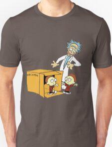 Rick and Morty Calvin and Hobbes mashup T-Shirt