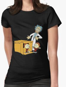 Rick and Morty Calvin and Hobbes mashup Womens Fitted T-Shirt