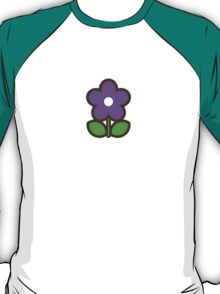 Flower Glow Blue - Day 6 (Friday) 6of7 designs T-Shirt