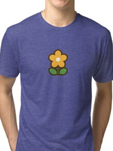 Flower Off/Yellow - Day 7 (Sunday) 7of7 designs Tri-blend T-Shirt