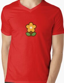 Flower Off/Yellow - Day 7 (Sunday) 7of7 designs Mens V-Neck T-Shirt