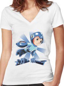 Mega Boy Women's Fitted V-Neck T-Shirt