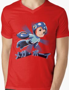 Mega Boy Mens V-Neck T-Shirt