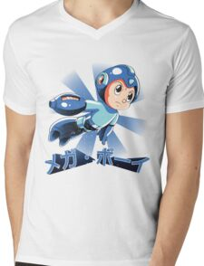 Mega Boy Mens V-Neck T-Shirt