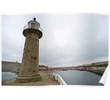 Pier navigation lighthouse Poster