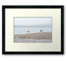 Fishing boats at Morecambe Framed Print