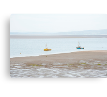 Fishing boats at Morecambe Canvas Print