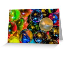 Playing with Marbles Greeting Card