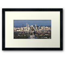 Cityscape Telescope Framed Print