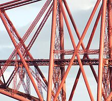Detail of the cantilever Forth Rail Bridge by photoeverywhere