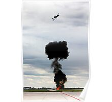 A-10 over explosion  Poster