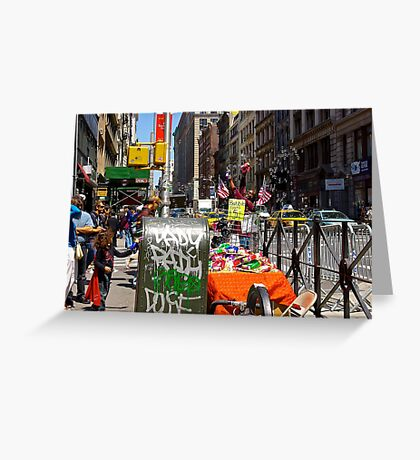 Bubble Guns for $5, Broadway, New York City Greeting Card
