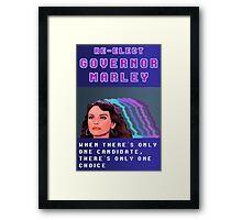 RE-ELECT GOVERNOR MARLEY Framed Print