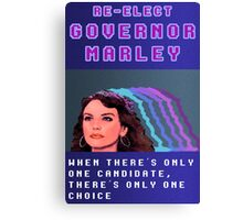 RE-ELECT GOVERNOR MARLEY Canvas Print