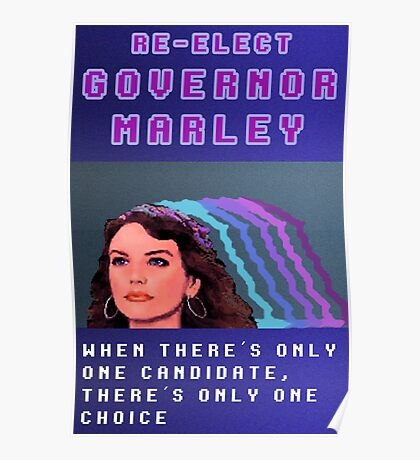 RE-ELECT GOVERNOR MARLEY Poster