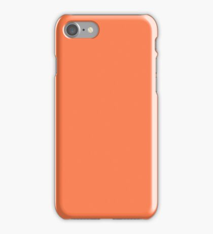 PURE COLOR-CORAL iPhone Case/Skin