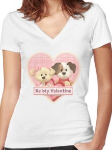 Be My Valentine Women's Fitted V-Neck T-Shirt