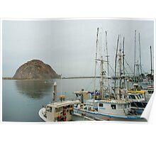 morro bay fishing boats Poster