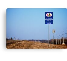 Cavalier Air Force Base  Canvas Print