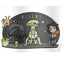 Cute Aliens Poster
