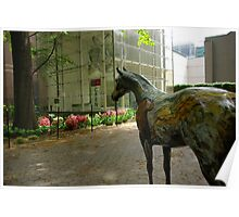 Horse Sculpture outside American Museum of Natural History Poster