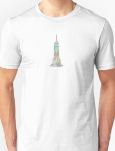 subway map new york  Empire state building T-Shirt
