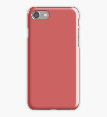 PURE COLOR-INDIAN RED iPhone Case/Skin
