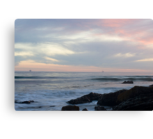 Refugio Beach Sunset Canvas Print