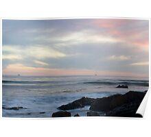 Refugio Beach Sunset Poster