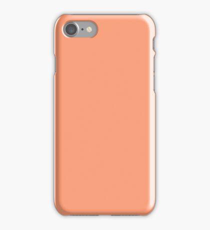 PURE COLOR-LIGHT SALMON iPhone Case/Skin