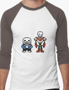 Undertale - Sans and Papyrus Men's Baseball ¾ T-Shirt