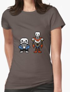 Undertale - Sans and Papyrus Womens Fitted T-Shirt