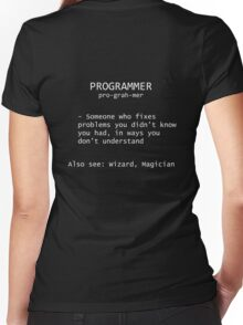 Programmer Definition Women's Fitted V-Neck T-Shirt