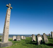 Caedmons Cross at Whitby Abbey by photoeverywhere