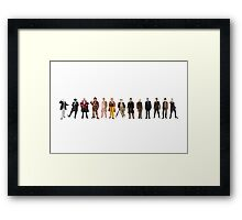 The Thirteen Doctors Framed Print