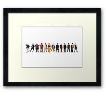 The Thirteen Doctors Framed Print