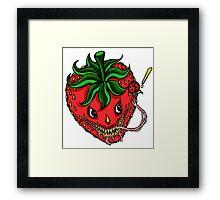 Sinister Strawberry Framed Print