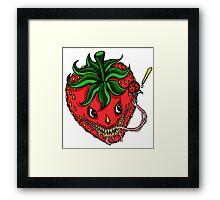 Sinister Strawberry Framed Print