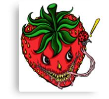 Sinister Strawberry Canvas Print