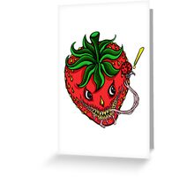 Sinister Strawberry Greeting Card