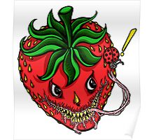 Sinister Strawberry Poster