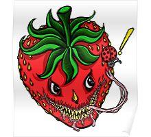 Sinister Strawberry Poster
