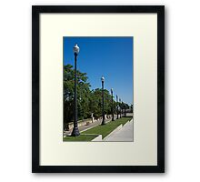 The Marching Lights - a Barcelona Perspective Framed Print