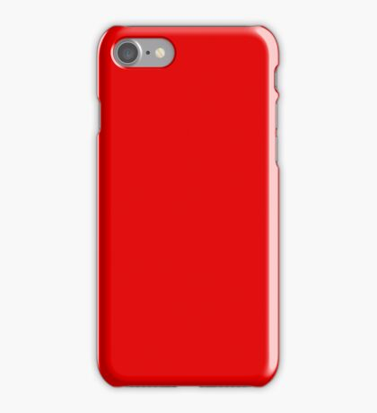 PURE COLOR-STRONG RED iPhone Case/Skin