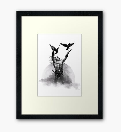 Odin & Ravens Framed Print