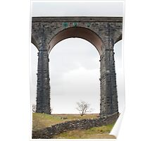 Stone arch on the Ribblehead Viaduct Poster