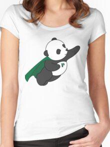 Super Panda Series - 3 Women's Fitted Scoop T-Shirt