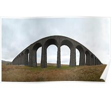 Ribblehall viaduct - fisheye view Poster