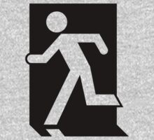 Emergency Exit Sign, with the Running Man One Piece - Long Sleeve