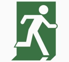 Emergency Exit Sign, with the Running Man Baby Tee